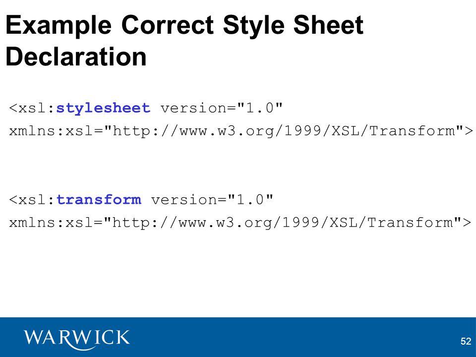 Example Correct Style Sheet Declaration