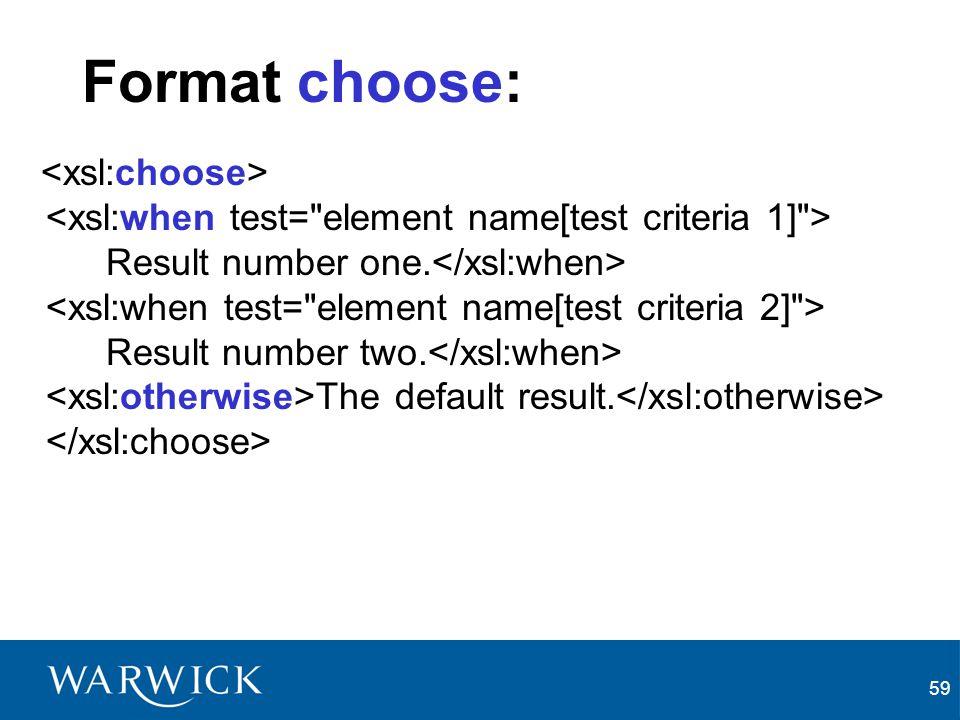 Format choose: