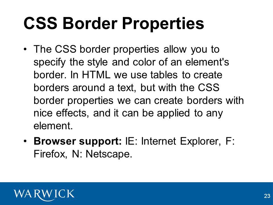 CSS Border Properties