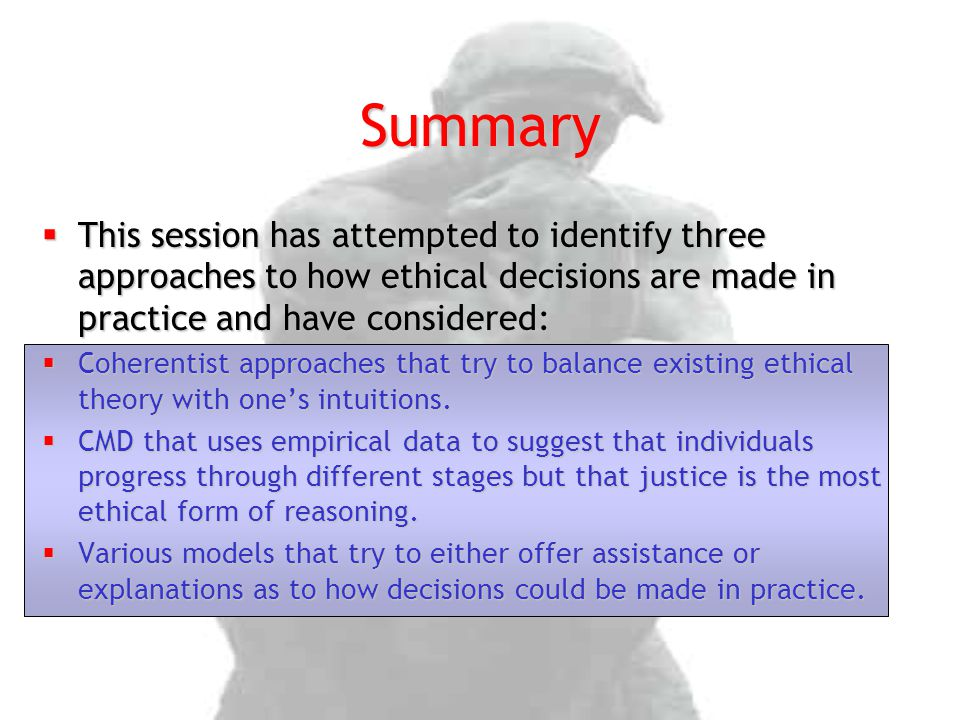 three approaches to making ethical decisions 5 normative and descriptive aspects of decision making normative approaches in decision making normative and descriptive aspects of decision making 5-3.