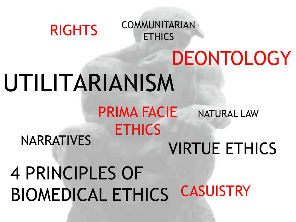 UTILITARIANISM DEONTOLOGY 4 PRINCIPLES OF BIOMEDICAL ETHICS
