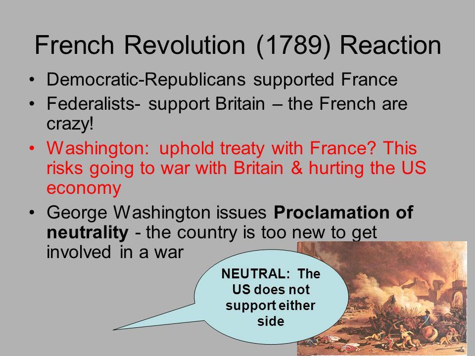 French Revolution (1789) Reaction