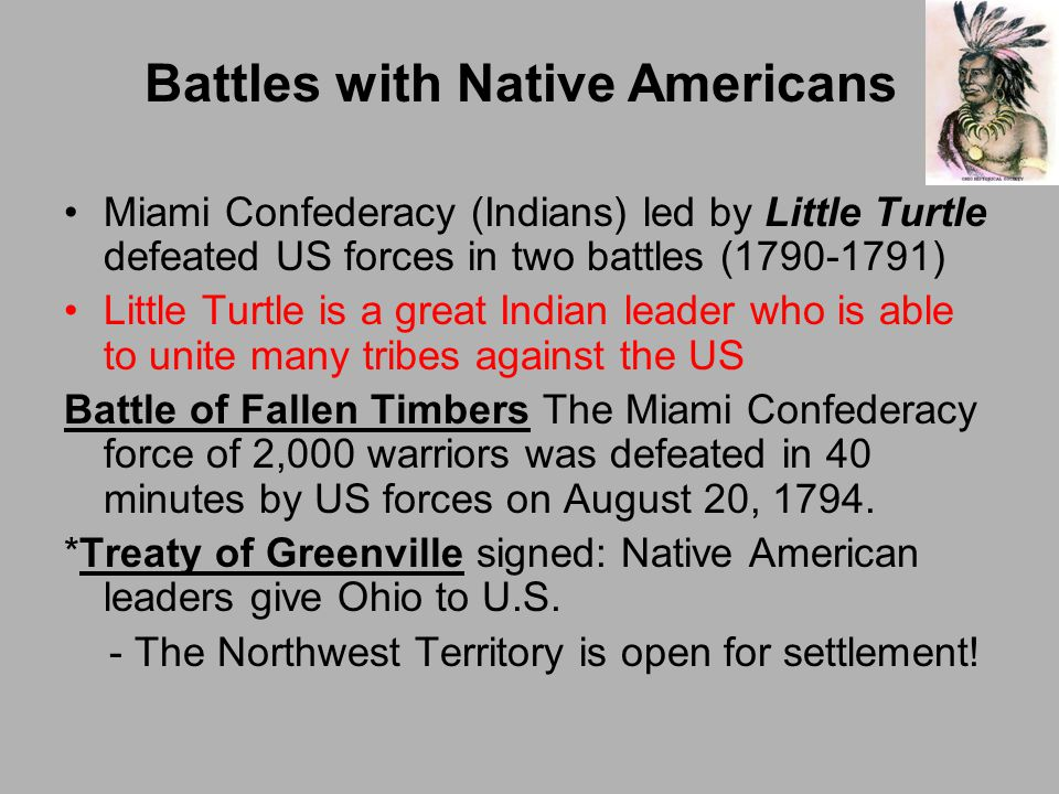 Battles with Native Americans