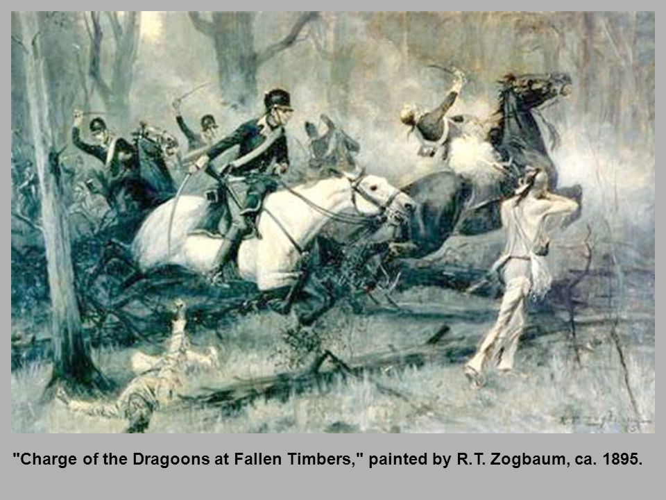 Charge of the Dragoons at Fallen Timbers, painted by R. T