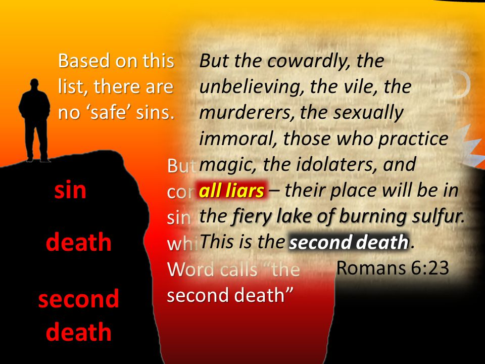 GOD sin death second death