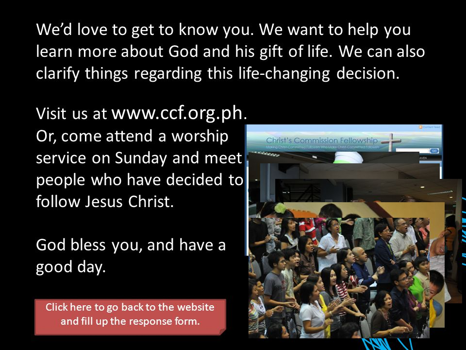 Visit us at www.ccf.org.ph.