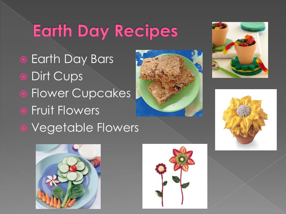 Earth Day Recipes Earth Day Bars Dirt Cups Flower Cupcakes