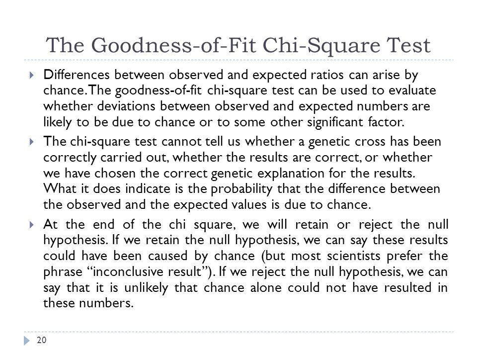 The Goodness-of-Fit Chi-Square Test