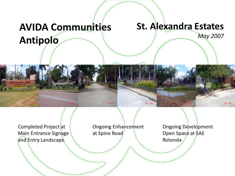 AVIDA Communities Antipolo St. Alexandra Estates May 2007