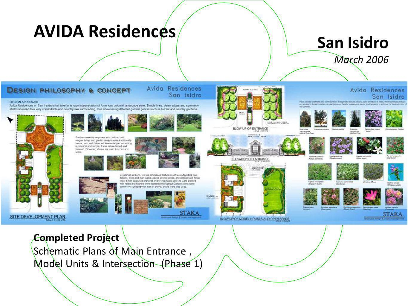 AVIDA Residences San Isidro March 2006 Completed Project