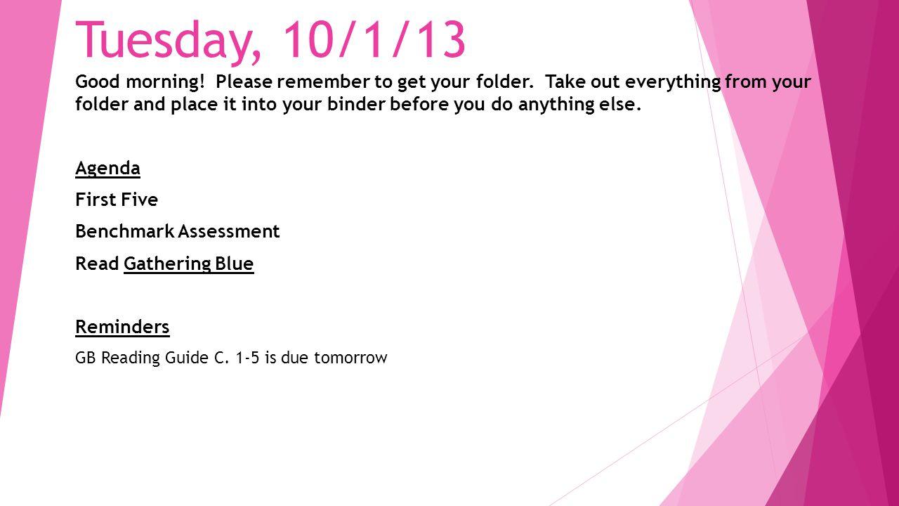 Tuesday, 10/1/13