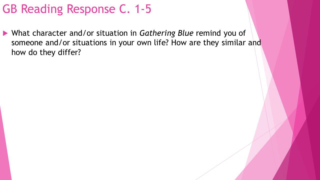 GB Reading Response C. 1-5