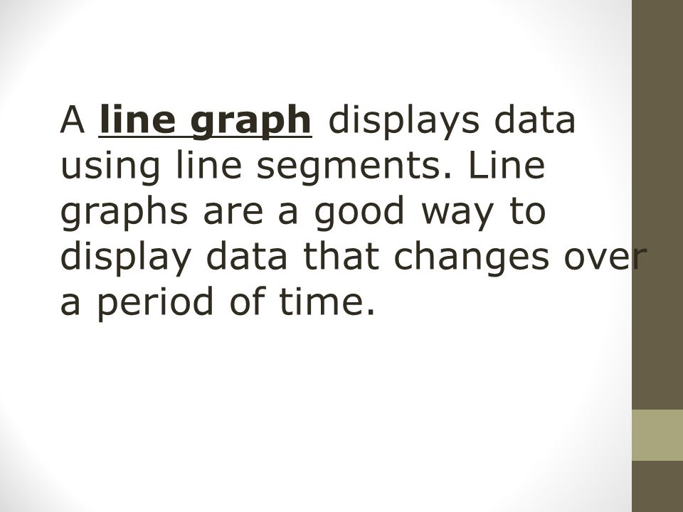 A line graph displays data using line segments