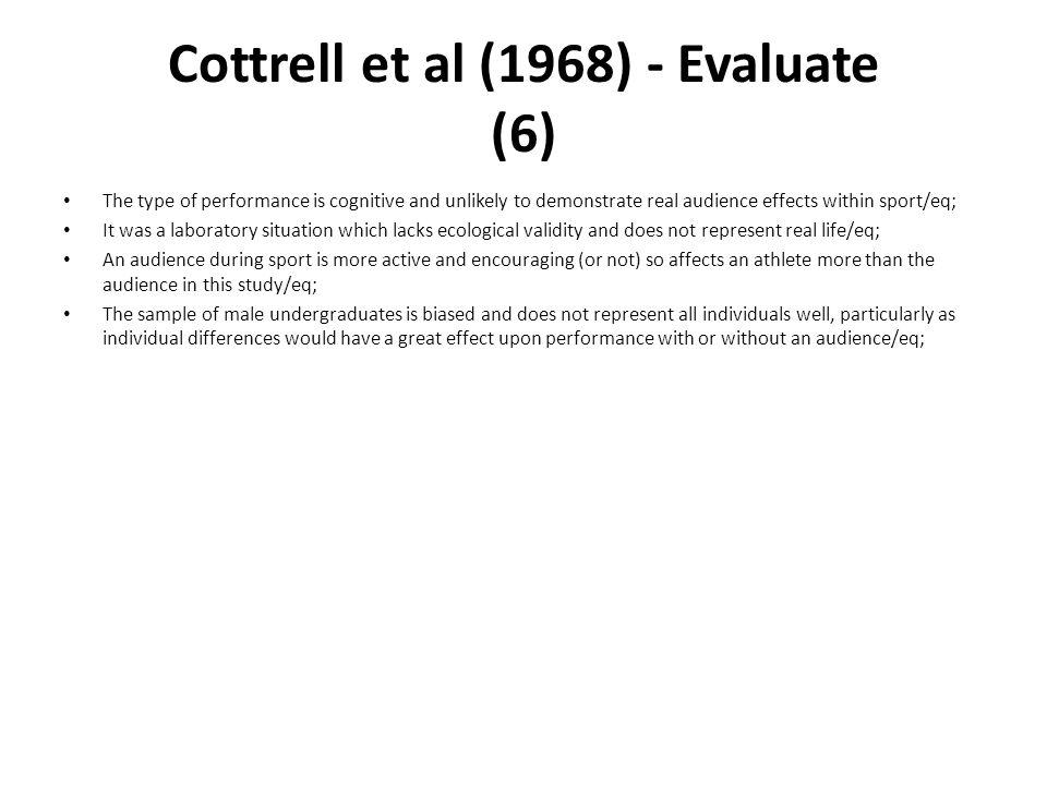 Cottrell et al (1968) - Evaluate (6)