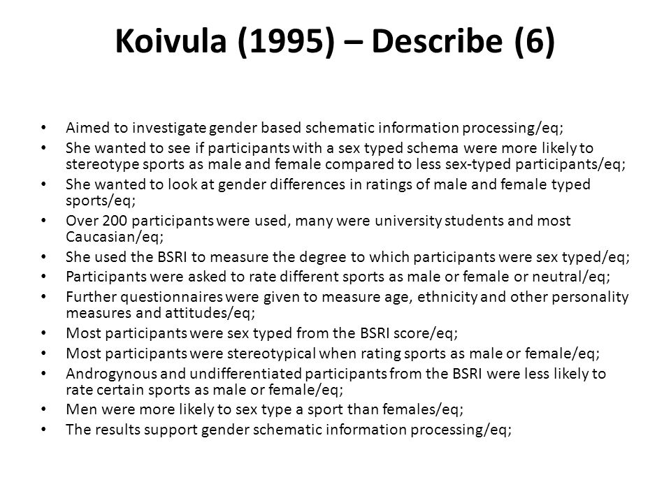 Koivula (1995) – Describe (6)