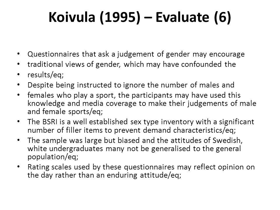 Koivula (1995) – Evaluate (6)