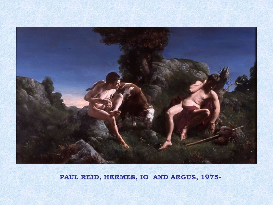 PAUL REID, HERMES, IO AND ARGUS, 1975-