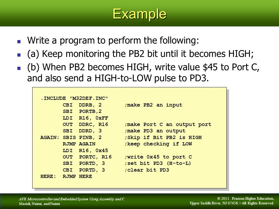 Example Write a program to perform the following: