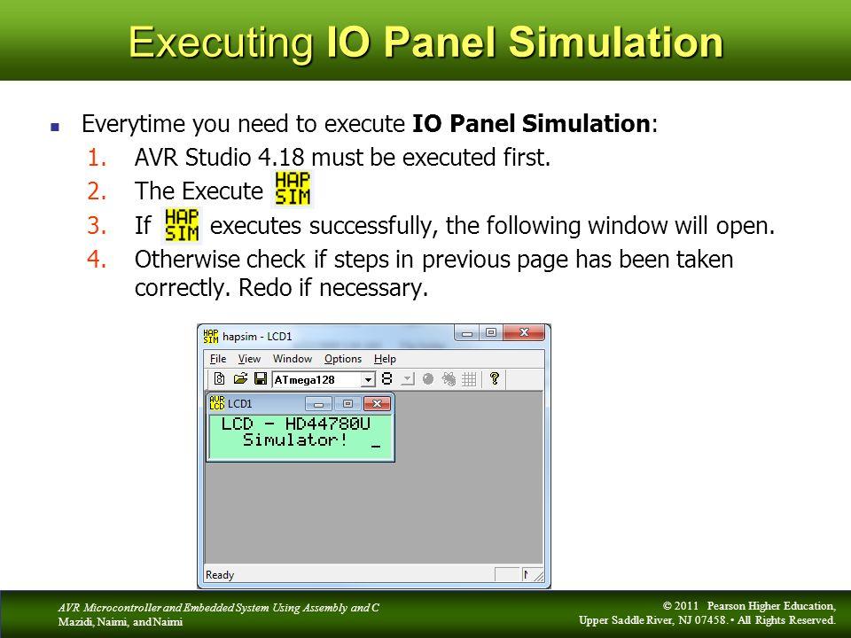 Executing IO Panel Simulation