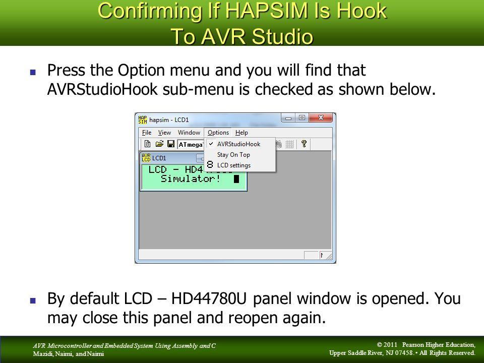 Confirming If HAPSIM Is Hook To AVR Studio