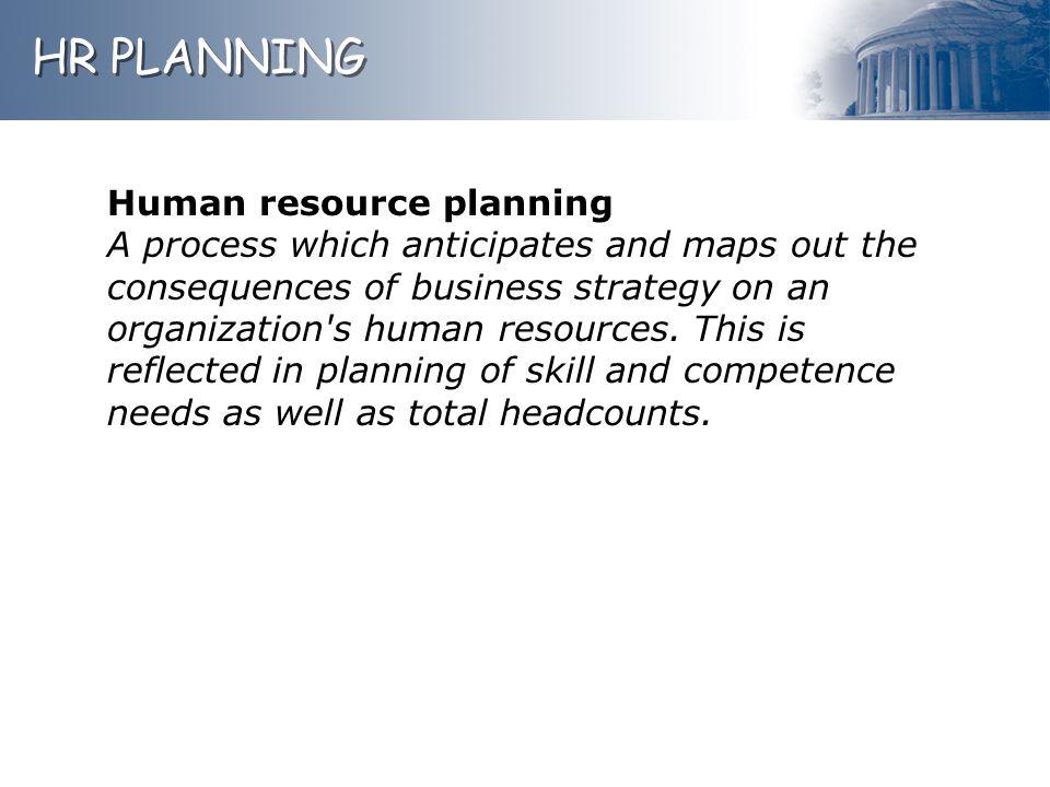 HR PLANNING Human resource planning