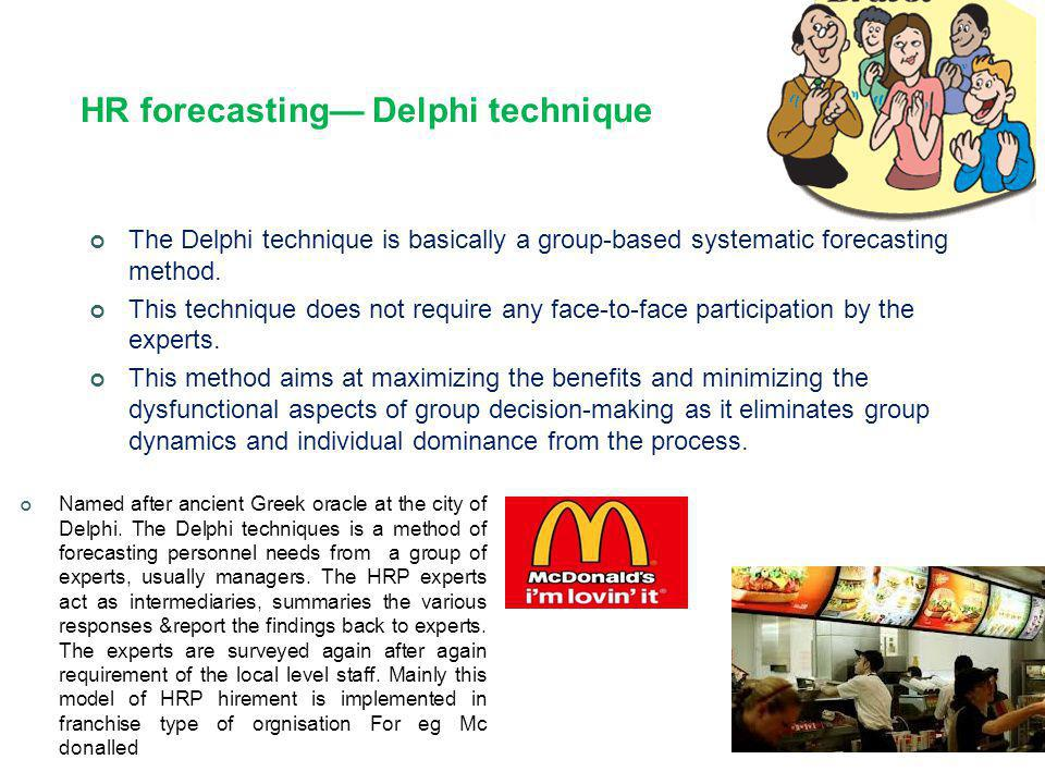 HR forecasting— Delphi technique