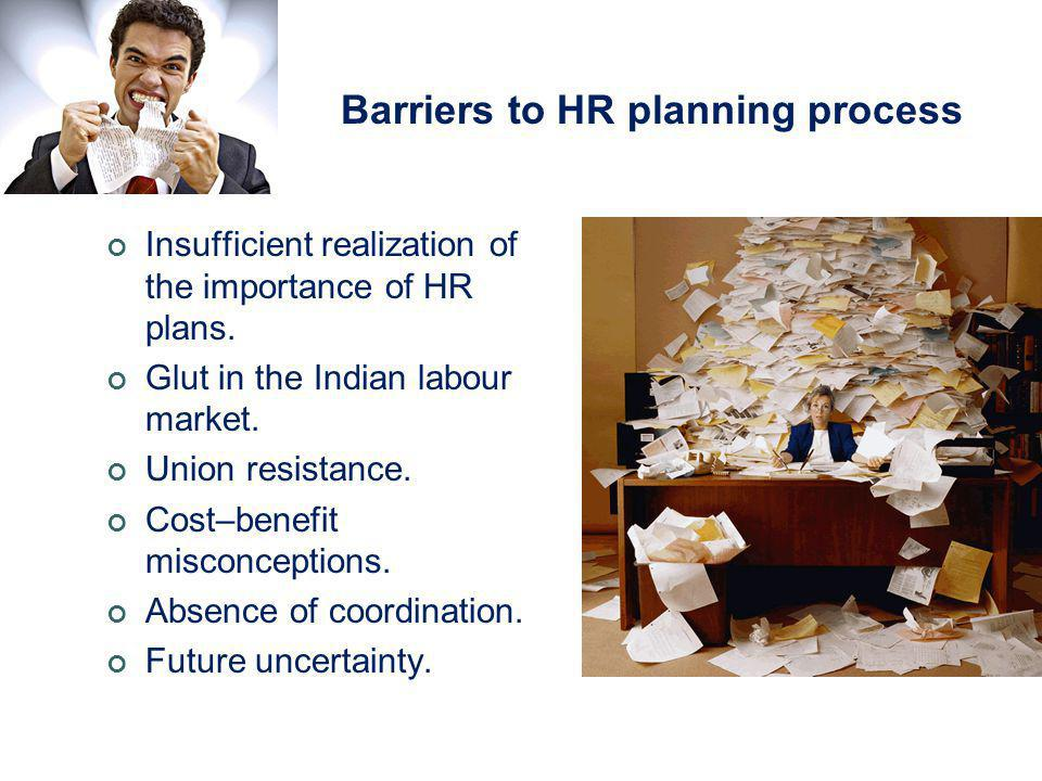 Barriers to HR planning process