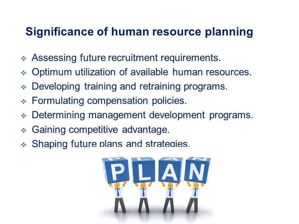 Significance of human resource planning