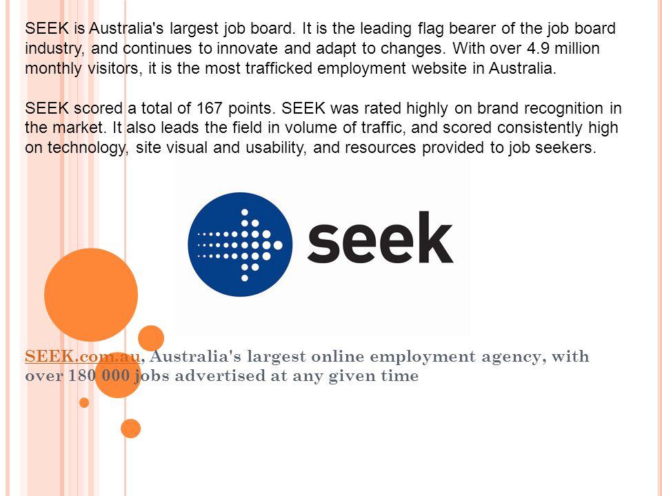SEEK is Australia s largest job board