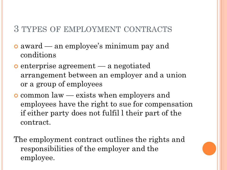 Employment Contracts. Employment-Contract Employment Contracts