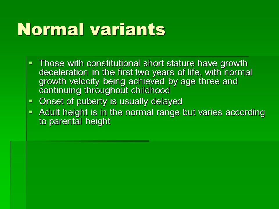 Normal variants