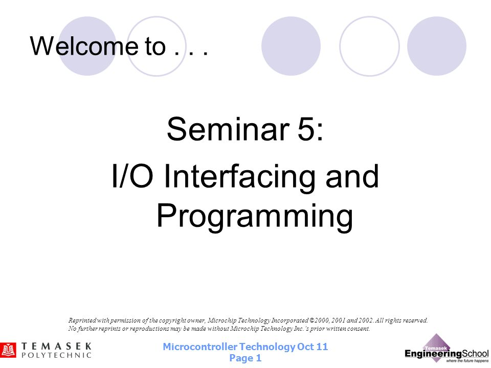 I/O Interfacing and Programming