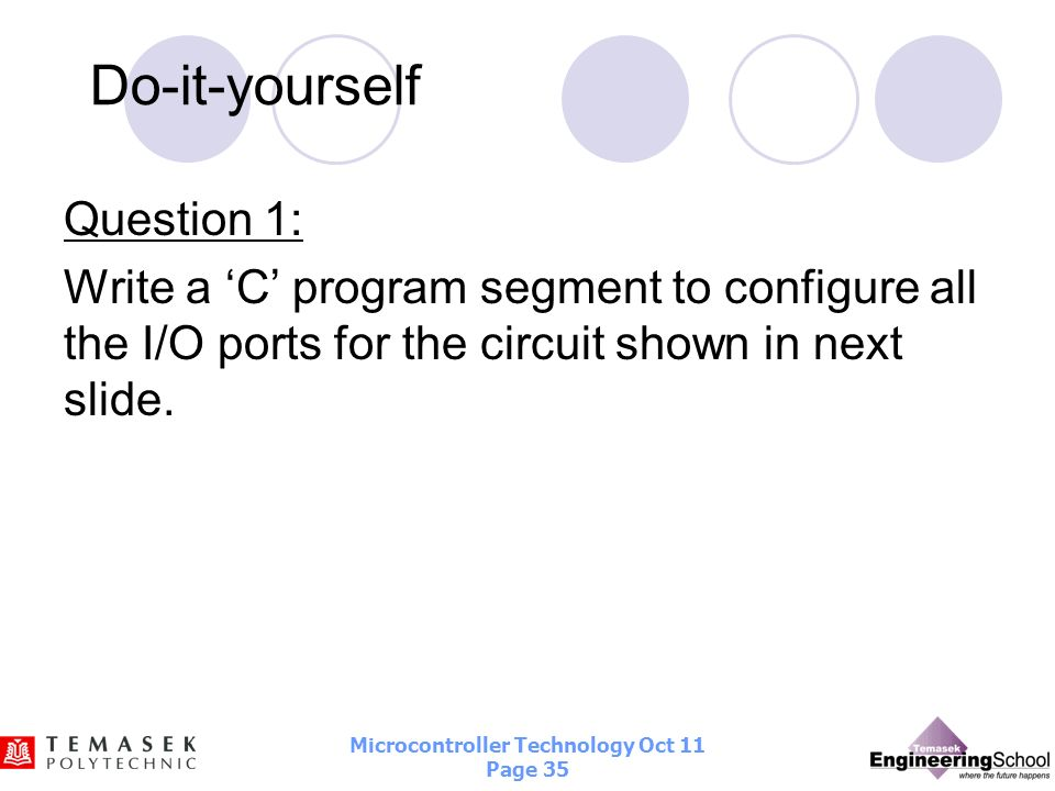Do-it-yourself Question 1: