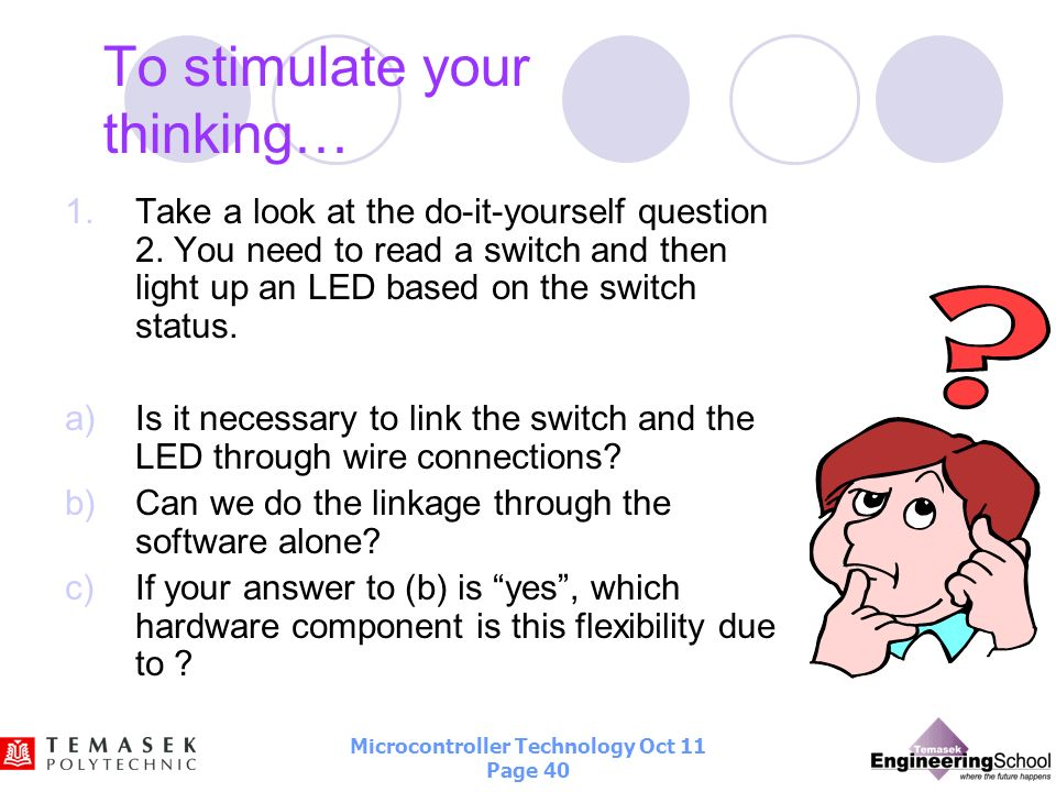 To stimulate your thinking…