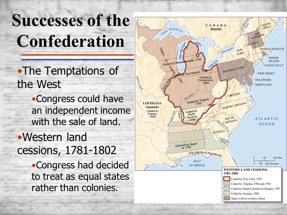 Successes of the Confederation