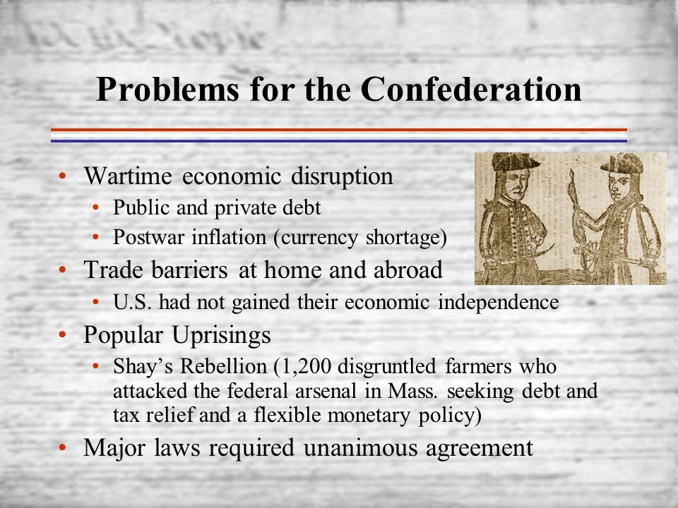 Problems for the Confederation