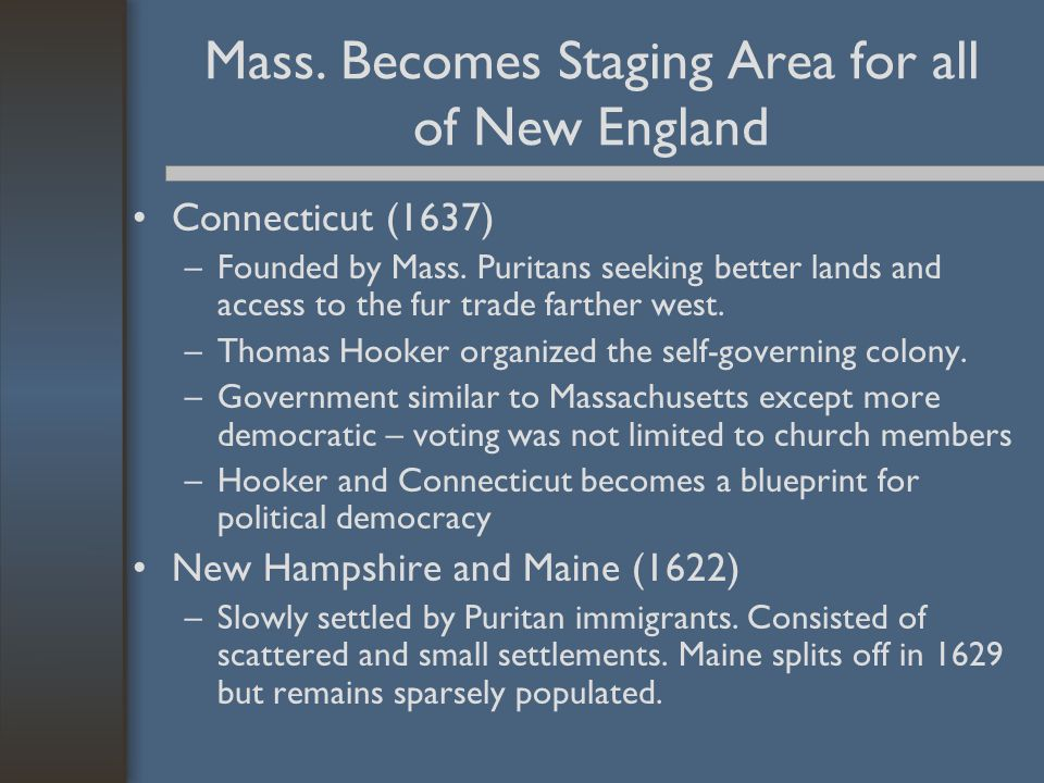 Mass. Becomes Staging Area for all of New England