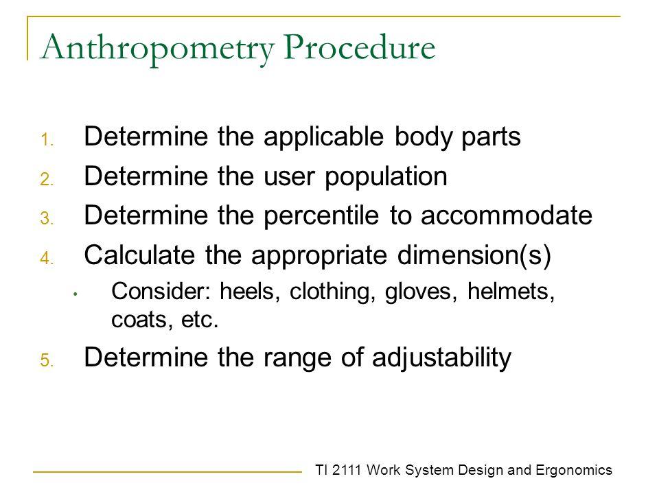 Anthropometry Procedure