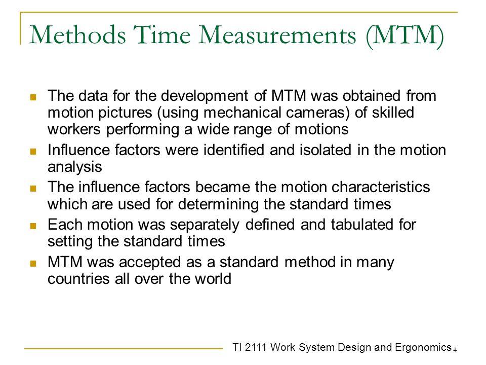 Methods Time Measurements (MTM)