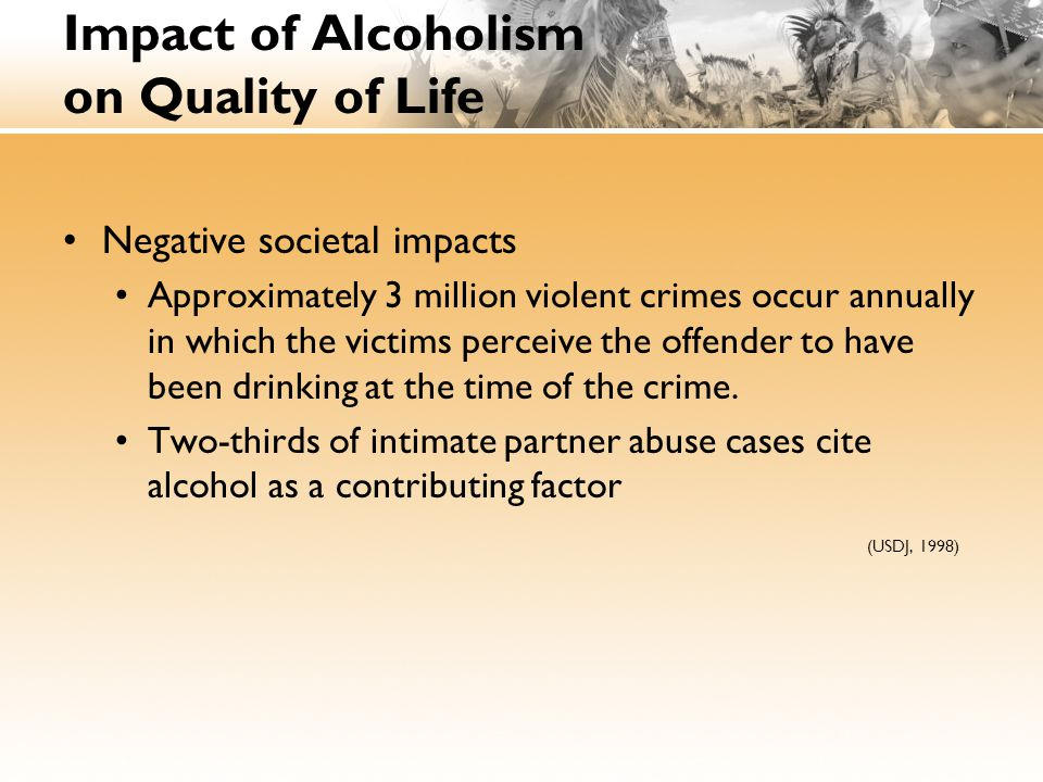 Impact of Alcoholism on Quality of Life