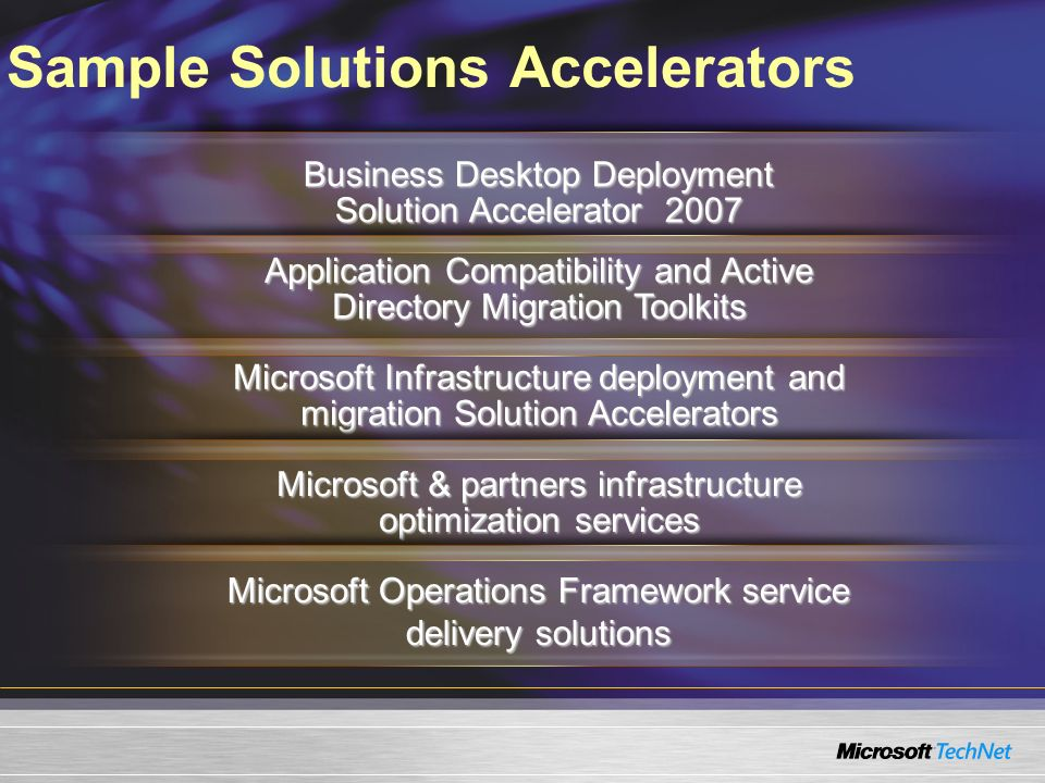 Sample Solutions Accelerators