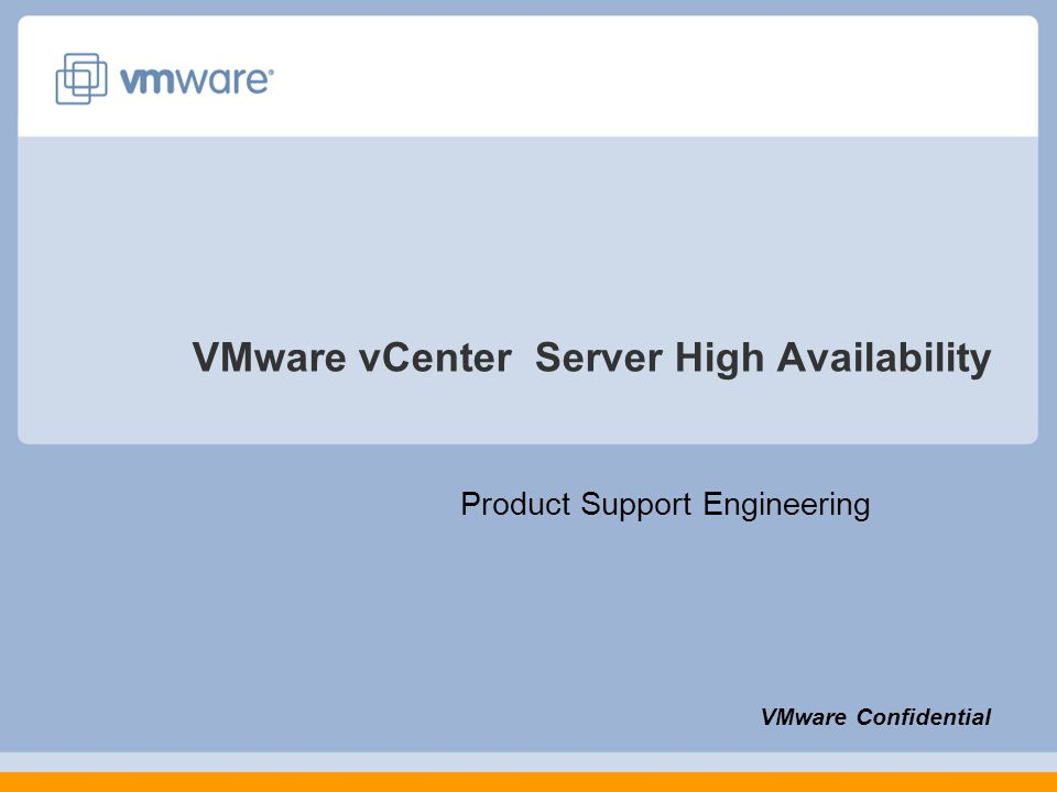 VMware vCenter Server High Availability