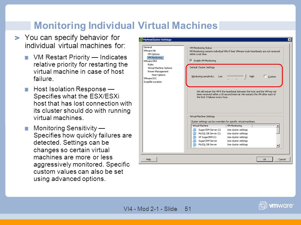 Monitoring Individual Virtual Machines