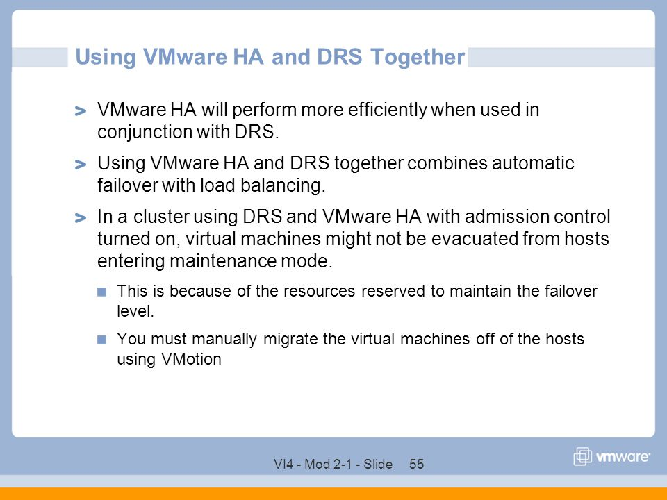 Using VMware HA and DRS Together