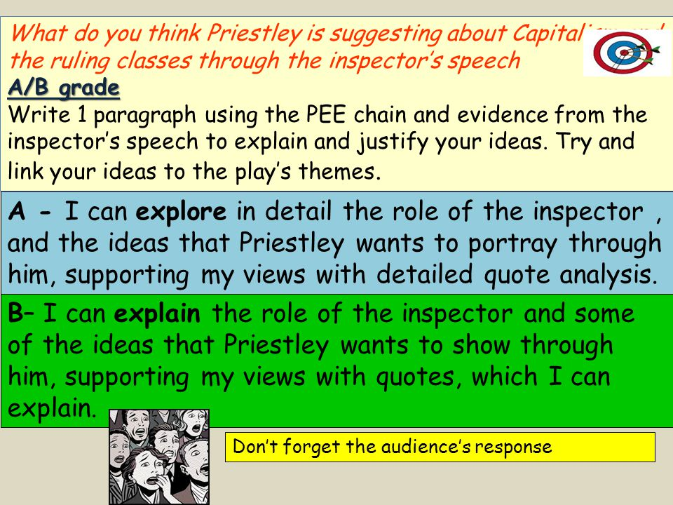 What do you think Priestley is suggesting about Capitalism and the ruling classes through the inspector's speech