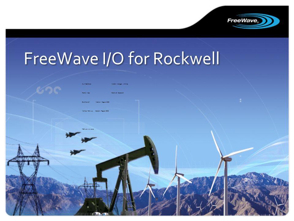 FreeWave I/O for Rockwell