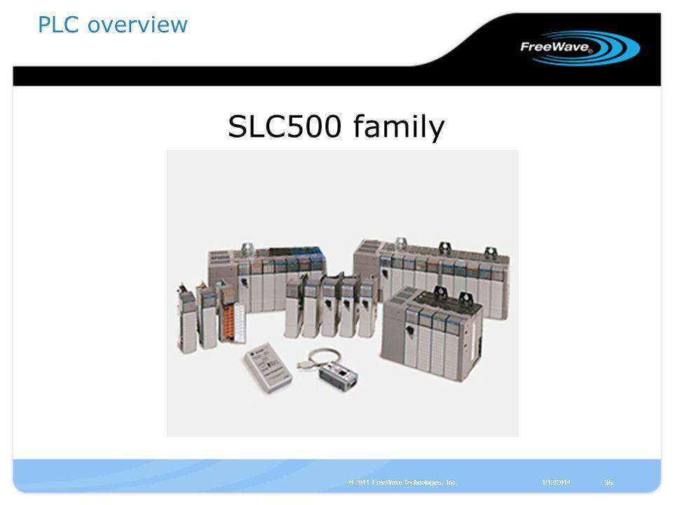 SLC500 family PLC overview 35 © 2011 FreeWave Technologies, Inc.
