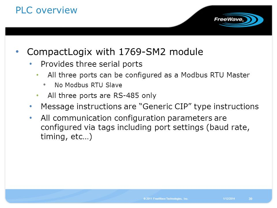 CompactLogix with 1769-SM2 module
