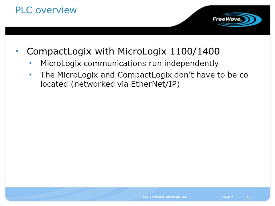 CompactLogix with MicroLogix 1100/1400