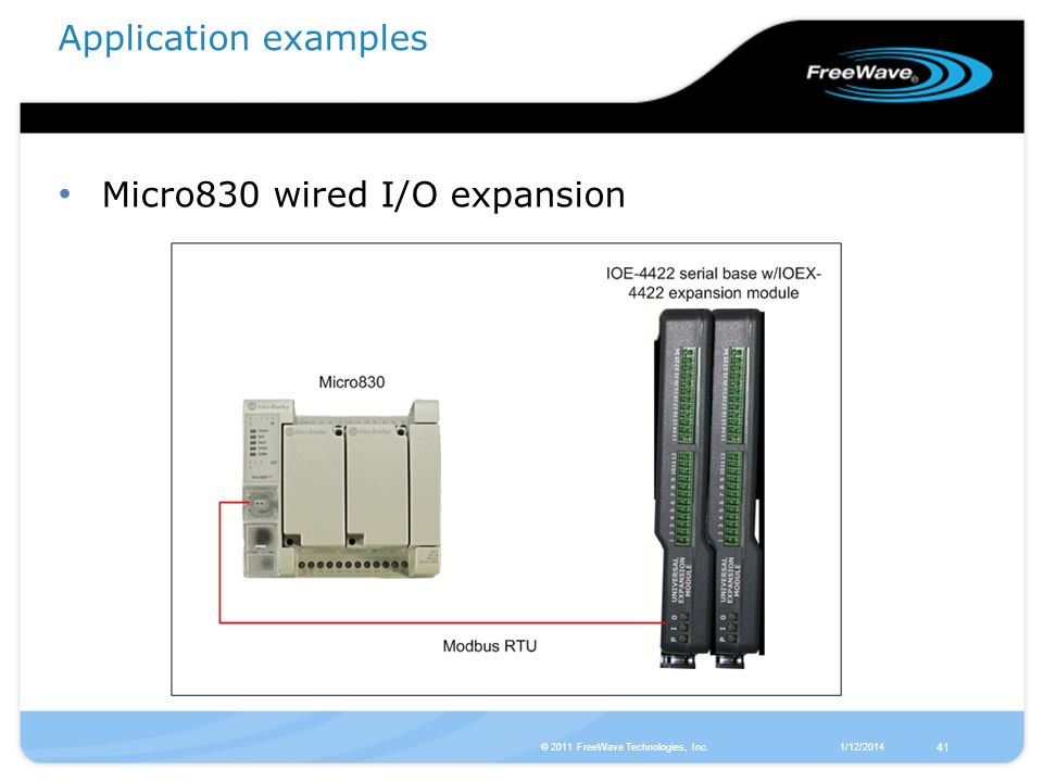 Micro830 wired I/O expansion